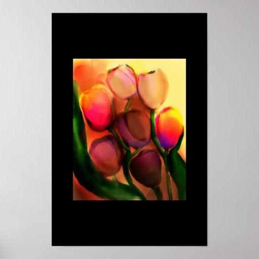 rainbow tulips posters