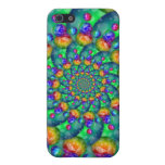 Rainbow Turquoise Bokeh Fractal Case For iPhone 5