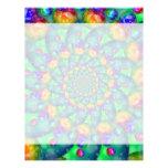 Rainbow Turquoise Bokeh Fractal Letterhead Design