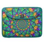 Rainbow Turquoise Bokeh Fractal MacBook Pro Sleeve