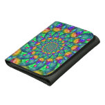 Rainbow Turquoise Bokeh Fractal Wallets