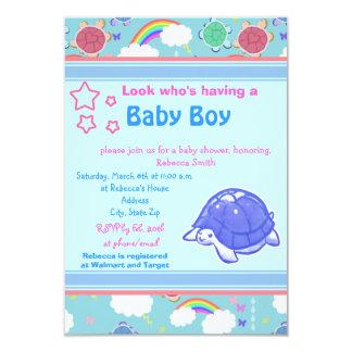 Rainbow Turtle Baby Shower Invite