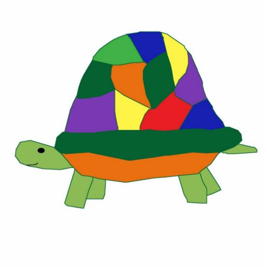 Rainbow Turtle sculpture
