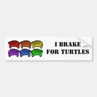 Rainbow Turtles Car Bumper Sticker