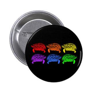 Rainbow Turtles Button