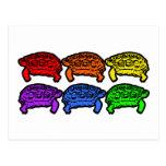 Rainbow Turtles Post Cards