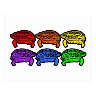 Rainbow Turtles Postcard