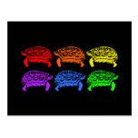 Rainbow Turtles Postcards