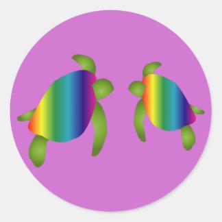 Rainbow Turtles Sticker