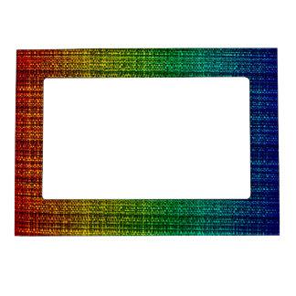 Rainbow Tweed Textured Look Patterned Magnetic Photo Frames