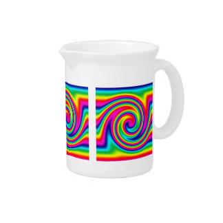 Rainbow Twirl Beverage Pitcher