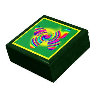 Rainbow Twirl Butterfly Jewelry Box
