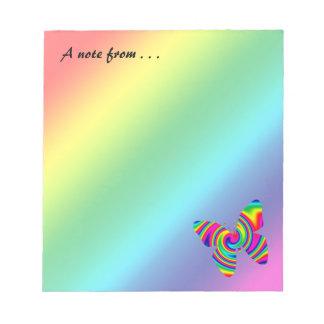 Rainbow Twirl Butterfly Memo Pad