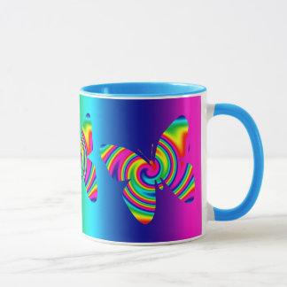 Rainbow Twirl Butterfly Mug