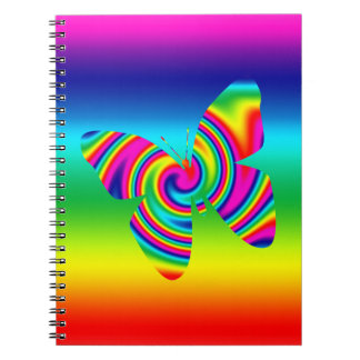 Rainbow Twirl Butterfly Note Book