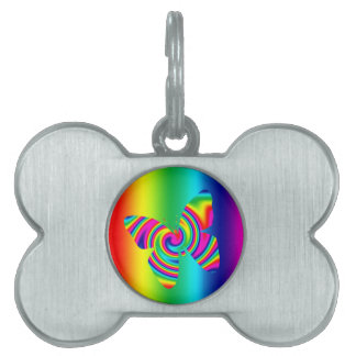 Rainbow Twirl Butterfly Pet Name Tag