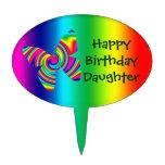 Rainbow Twirl Butterfly: Rainbow Cake Picks