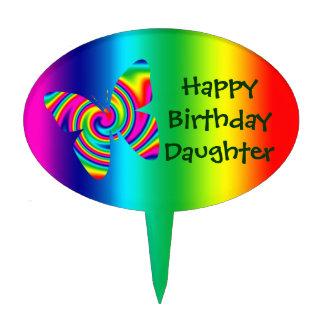 Rainbow Twirl Butterfly: Rainbow Cake Topper