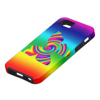 Rainbow Twirl Butterfly Rainbow iPhone 5 Cover