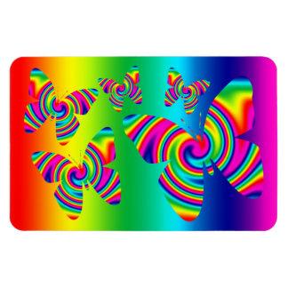 Rainbow Twirl Butterfly Rectangular Photo Magnet