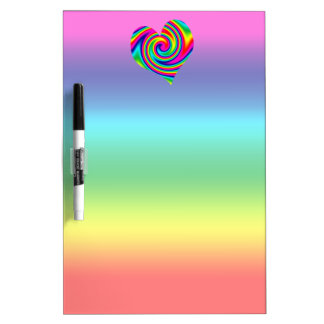 Rainbow Twirl Heart Dry-Erase Board