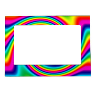 Rainbow Twirl Magnetic Picture Frame