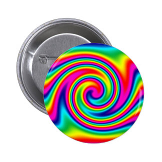 Rainbow Twirl Pinback Button