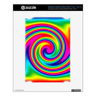 Rainbow Twirl NOOK Skin