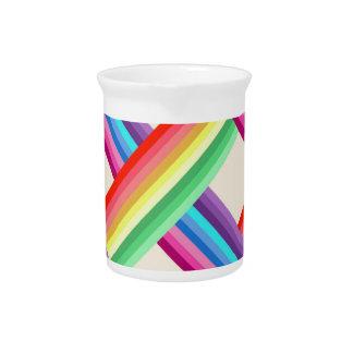 Rainbow Twist Beverage Pitcher