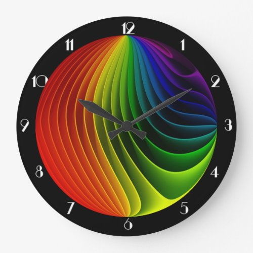 Rainbow Twist Round Wall Clock