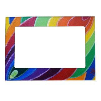 Rainbow Twist Spirals Magnet Photo Frame