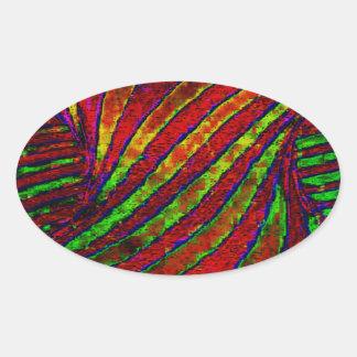 Rainbow Twister Oval Sticker