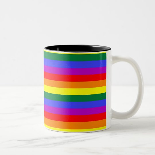 Rainbow Two-Tone Coffee Mug