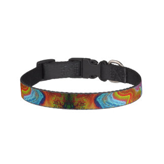Rainbow Tye Dye Aurora Bori Dog Collection Pet Collar