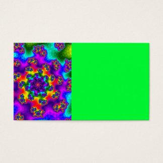 Rainbow Tye-Dye Floral Sprinkles Business Cards