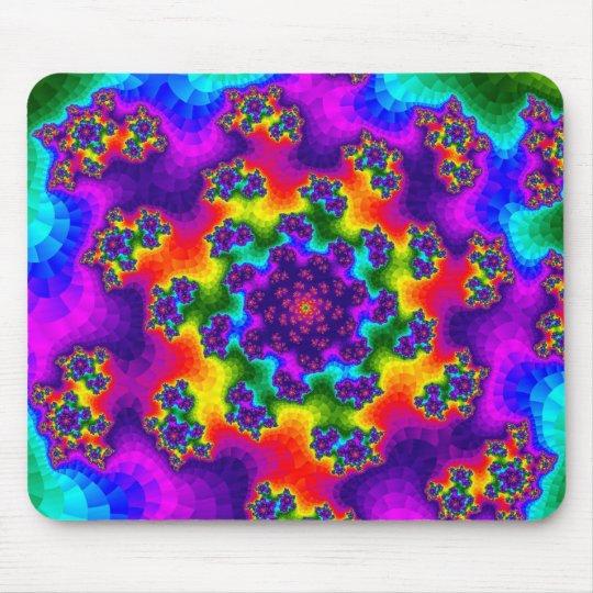 Rainbow Tye-Dye Floral Sprinkles Mousepad