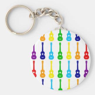 Rainbow Ukes Keychains