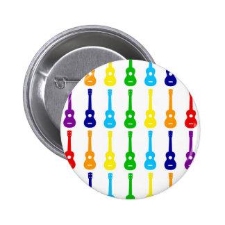 Rainbow Ukes Pin