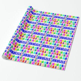 Rainbow Ukuleles Wrapping Paper