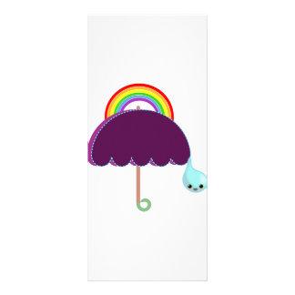 rainbow umbrella drop rain rack card