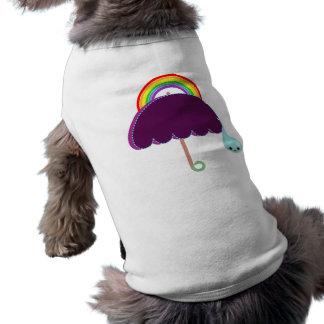 rainbow umbrella drop rain shirt