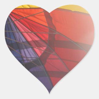 Rainbow Umbrella Heart Sticker