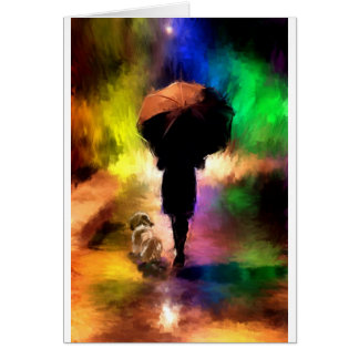 rainbow umbrella.jpg greeting card