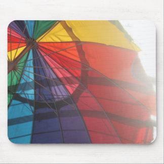 Rainbow Umbrella Mouse Pad
