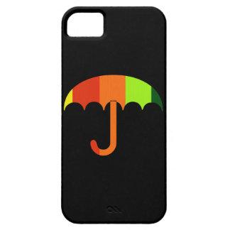 Rainbow Umbrella on Black Background iPhone SE/5/5s Case