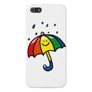 Rainbow umbrella & rain drops iPhone SE/5/5s cover