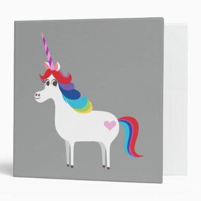 Rainbow Unicorn Binders