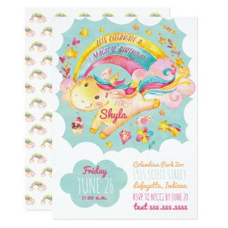 Rainbow Unicorn Birthday Party Invitation