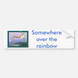 Rainbow unicorn bumper sticker