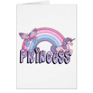 Rainbow Unicorn Butterfly Princess Design Card